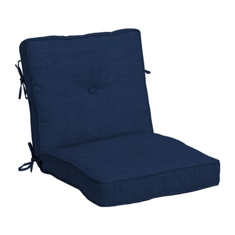 Arden Selections Plush BlowFill 20 x 21 in. Solid Leala Outdoor Dining Chair Cushion