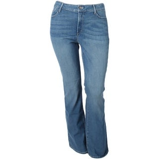 NYDJ Womens Plus Bootcut Jeans South Beach Wash Slimming Fit