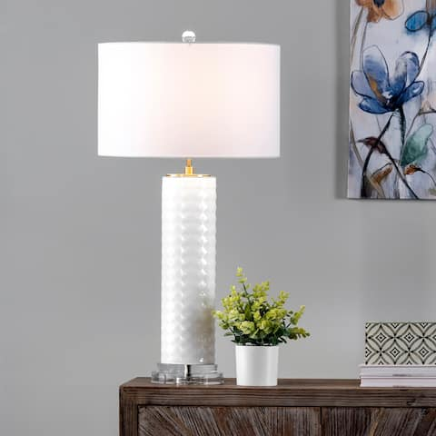 "nuLOOM Verona 31"" Glass Table Lamp - 16""W x 16""D x 31""H"