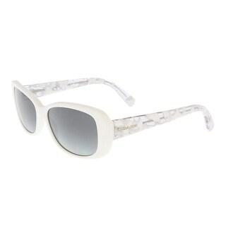 Coach HC8168 536011 White Crystal/Mosaic Rectangle Sunglasses - white crystal/mosaic - 56-16-135