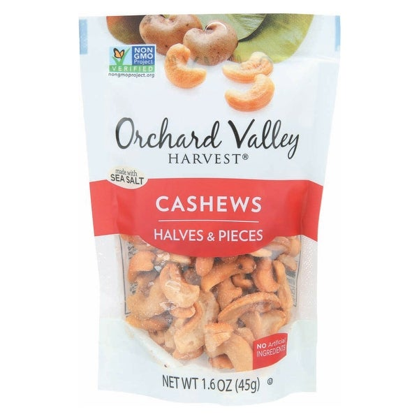 Orchard Valley Harvest - Cashews - Case of 14 - 1.6 oz.