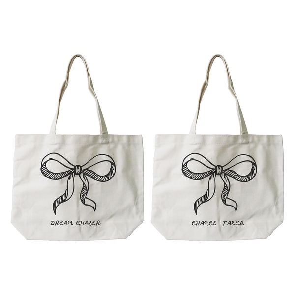 Women X27 S Cute Eco Friendly Best Friend Matching Natural Canvas Tote Bag