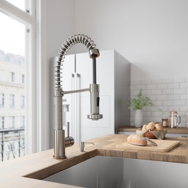 VIGO Edison Stainless Steel Pull-Down Spray Kitchen Faucet. Opens flyout.