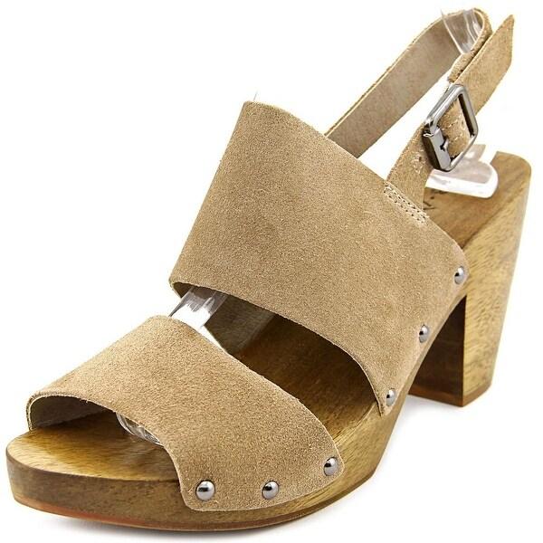 Kelsi Dagger Breacs Women Open-Toe Suede Gray Slingback Sandal