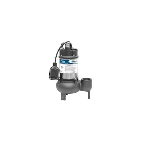 PROFLO PF93781 1/2 HP Cast Iron Submersible Sewage Pump with Tethered Float Switch -