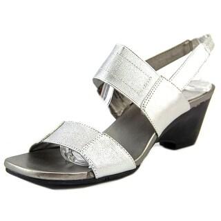 Bandolino Comforte Open-Toe Canvas Slingback Sandal