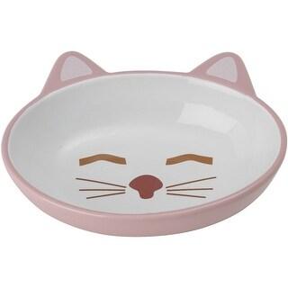 Pink - Petrageous Sleepy Kitty Oval Saucer 5.3Oz