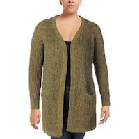 Junarose Womens Plus Duster Sweater Open Front Long