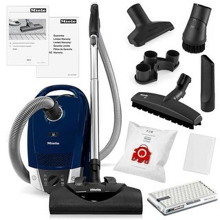Miele Compact C2 Electro+ HEPA Canister Vacuum Cleaner + SEB228 Powerhead + SBB-3 Parquet Floor Brush + More