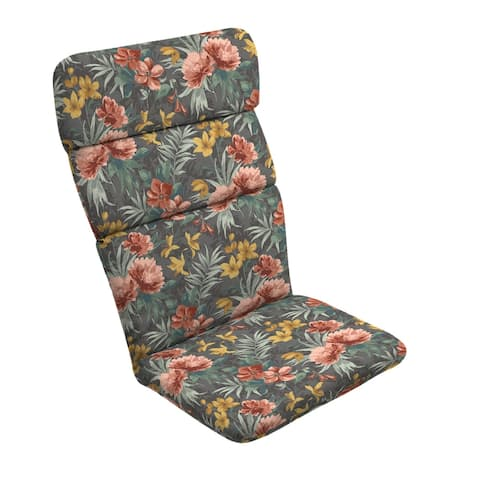 Arden Selections Phoebe Floral Outdoor Adirondack Chair Cushion - 45.5 in L x 20 in W x 2.25 in H