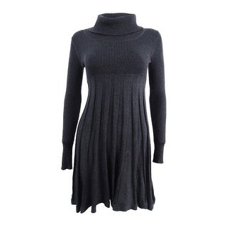 Calvin Klein Women's Petite Cowl-Neck Sweater Dress