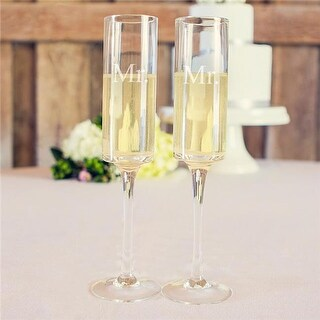 Cathys Concepts Mr. & Mr. Contemporary Toasting Flutes - Set of 2