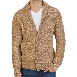 Nautica NEW Brown Mens Size Medium M Shawl Collar Cardigan Sweater