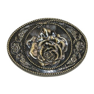 CTM® Women's Western Rose Belt Buckle (Option: Gold)
