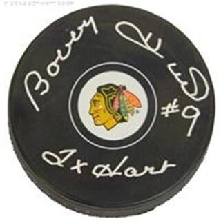 Bobby Hull Signed Chicago Blackhawks Logo Hockey Puck