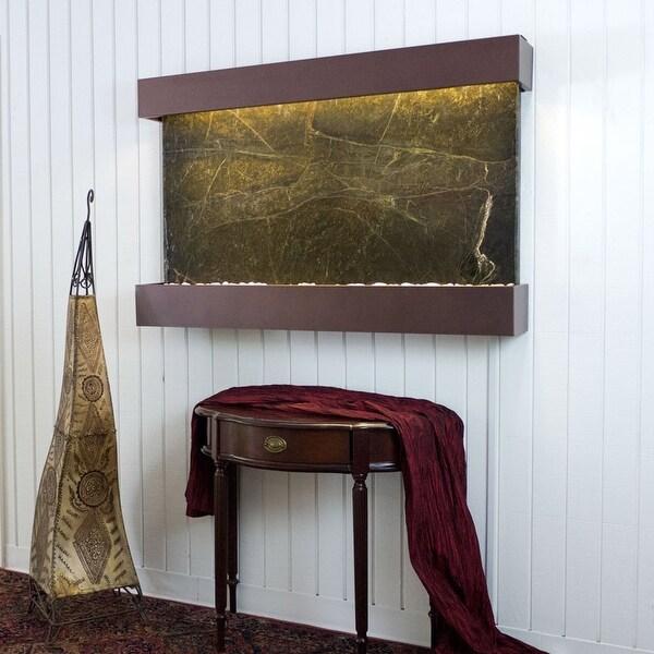 BluWorld Classic Quarry Horizontal Indoor Wall Fountain Rainforest Green Ma