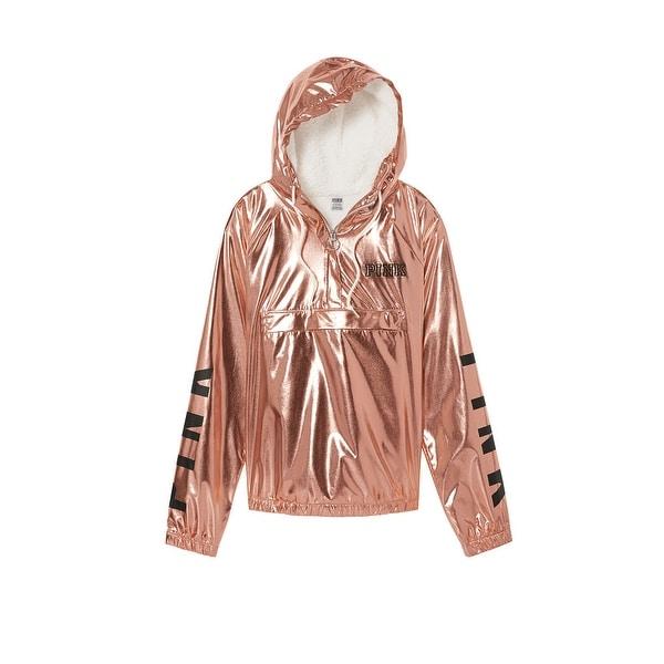 Shop Victorias Secret Pink Quarter Zip Cozy Sherpa Hoodie Anorak