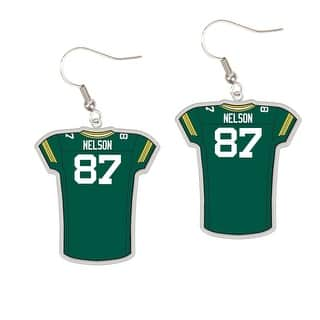 Green Bay Packers #87 Jordy Nelson Dangle Jersey Earrings|https://ak1.ostkcdn.com/images/products/is/images/direct/d9d58b37bc76cf7fedbae94cb5cb0b07631b3ec4/Green-Bay-Packers-%2387-Jordy-Nelson-Dangle-Jersey-Earrings.jpg?impolicy=medium