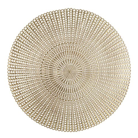 Home Details 4 Pack Round Woven Placemats
