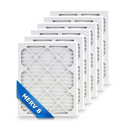 High Quality Pleated Furnace Air Filter 12x12x1 Merv 8 (6-Pack)