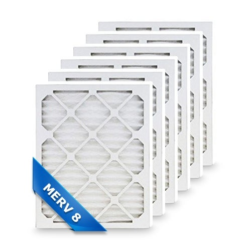 High Quality Pleated Furnace Air Filter 12x20x1 Merv 8 (6-Pack)