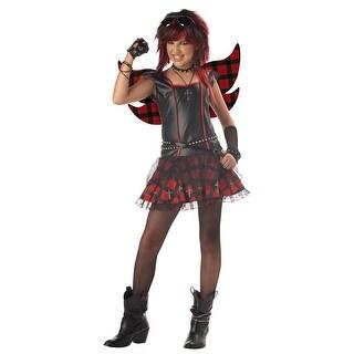 California Costumes Rebel Fairy Tween Costume - Black/Red - Large