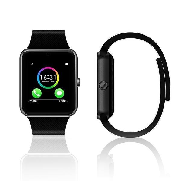 Indigi® NEW Unlocked Universal GT8 SmartWatch & Phone - Bluetooth Sync w/ Camera + SIM Slot + Sleep monitor + Pedometer (Black)
