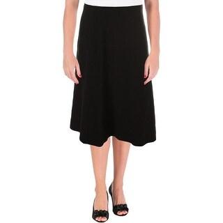 Kasper Womens Knit Mid-Calf A-Line Skirt