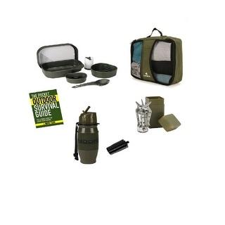 Snugpak Survival 5 Piece Camp Set in Carrying Case- Olive - BUN102
