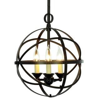 Miseno MLIT155389 3-Light Cage Orb Chandelier