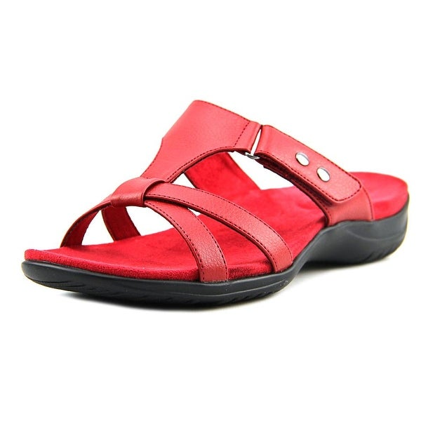 Easy Spirit Blaze Women WW Open Toe Synthetic Red Slides Sandal