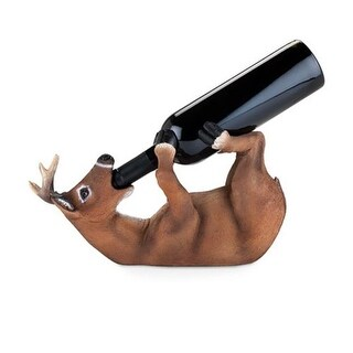 True 3977 Drunken Deer Bottle Holder, Brown