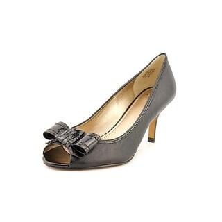 Circa Joan & David Zorita Women Peep-Toe Leather Black Heels