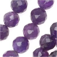 Amethyst Gemstone Beads, Grade A Faceted Round 8mm, 15.5 Inch Strand
