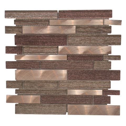 "The Tile Life Cosmos Brick 1"" x 3"" Glass Mosaic (11 sheets/ 11 sq ft)"