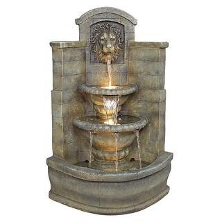 Design Toscano Saint Remy Lion Corner Fountain - 26.5 x 22.5 x 39