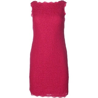 Adrianna Papell Womens Petites Lace Sleeveless Cocktail Dress - 2p