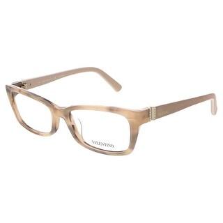 Valentino V2615R 643 Rose Horn Rectangular Valentino Eyewear