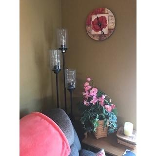 Orange Poppy Vanity Clock