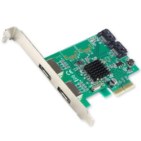 Syba SI-PEX40063 Marvell 88SE9235 2+2 Port SATA III Controller Card w/ SATA cord