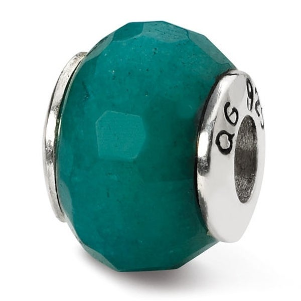 Sterling Silver Reflections Teal Quartz Stone Bead (4mm Diameter Hole)