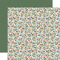"Primrose Petals/Sage Green Diamonds - Flora No. 2 Double-Sided Cardstock 12""X12"""
