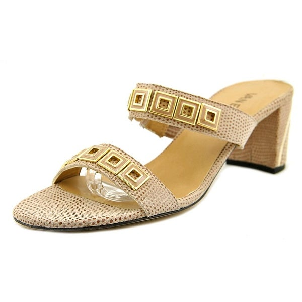 Vaneli Maureen Women N/S Open Toe Leather Nude Sandals