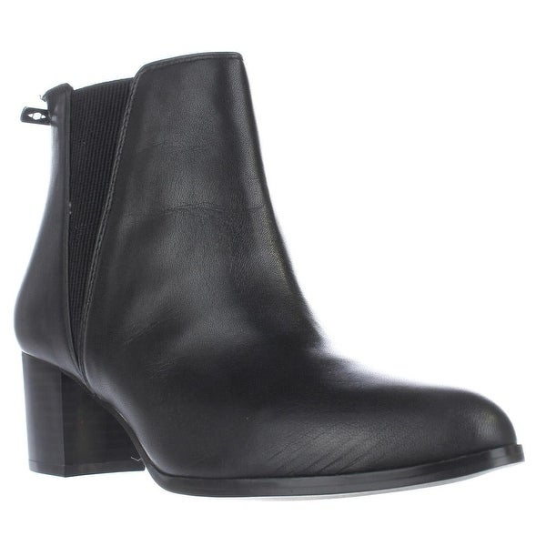 A35 Vitaa Rear Zip Ankle Boots, Black Leather