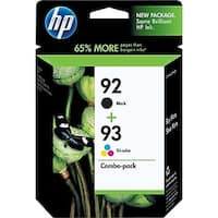 HP 92/93 Black and Tricolor Ink Cartridges Combo 2/Pack C9513BN