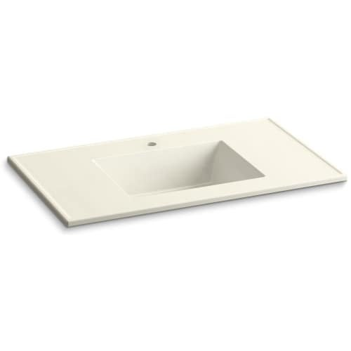 "Kohler K-2781-1 Ceramic/Impressions 37"" Vitreous China Vanity Top - Sink Included"