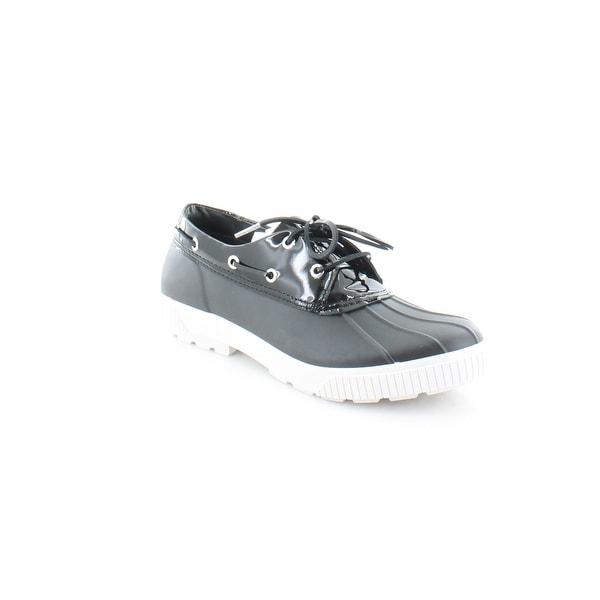 5ea313cc8b36 Shop Michael Kors Hyde Boat Shoes Women s FLATS Black - Free ...