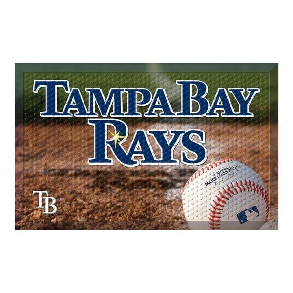 more photos d4cb4 c46f9 Shop MLB Tampa Bay Rays Shoe Scraper Door Mat - Free ...