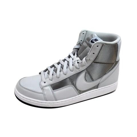 Nike Men's Dynasty 81 Hi Neutral Grey/Midnight Navy-White 386470-004 Size 11.5