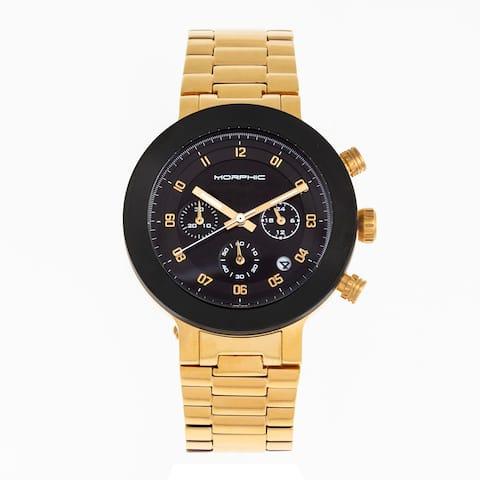 Morphic M78 Series Chronograph Bracelet Watch - Gold/Black